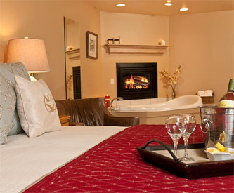 Jackson Hole Bed and Breakfast Fireplace Room